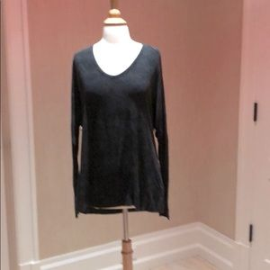 Joah Brown Long Sleeve Top/Tunic Washed Black
